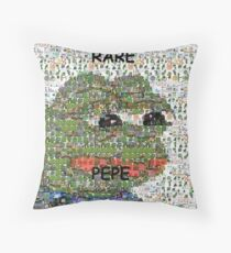 Rare Pepe - Frog Meme Compilation Throw Pillow