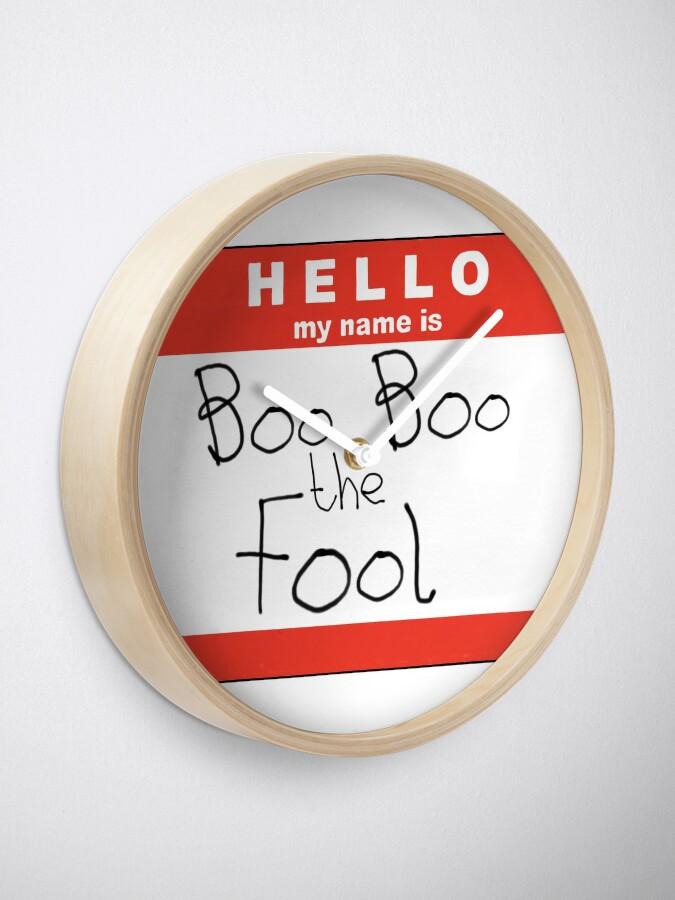 Alternative Ansicht von Boo Boo der Narr Uhr