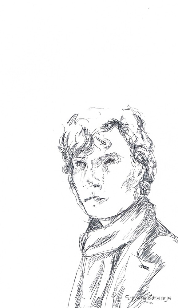 Sherlock- Pen sketch by Square-Orange