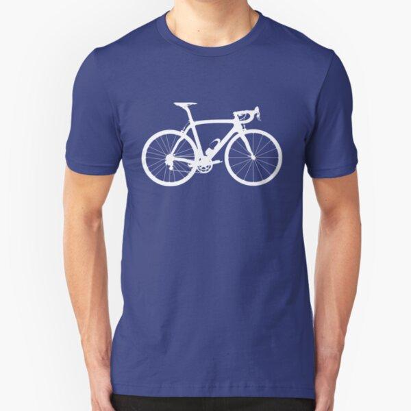 Bike White (Big) Slim Fit T-Shirt