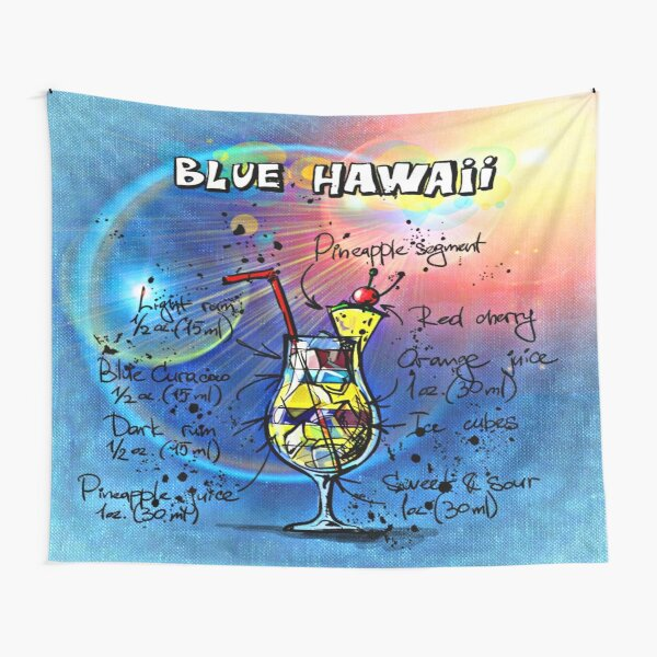 Blue Hawaii Cocktail Tapestry
