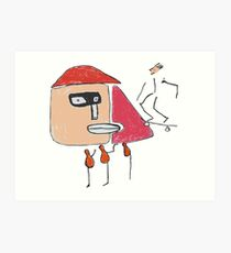 Ein Gangster, ein Skater und drei Einbeinige Kunstdruck