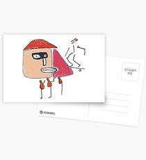 Ein Gangster, ein Skater und drei Einbeinige Postkarten