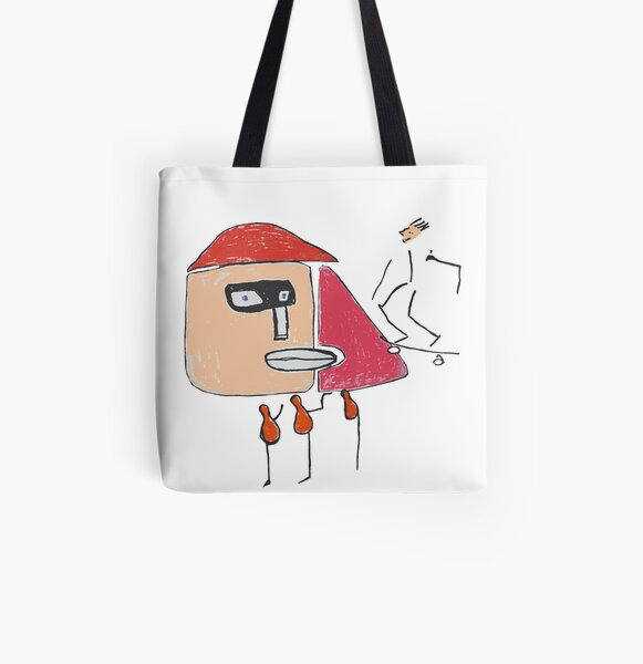 A gangster, a skater and three one-legged All Over Print Tote Bag