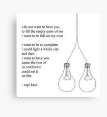 Gedicht weise Worte Zitate Leinwanddruck