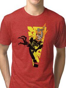"""Tankfist Steelhammer in """"Die Robot DIE!"""" Tri-blend T-Shirt"""