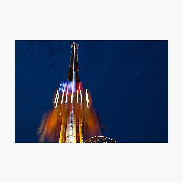 Rye Carnival 2010-11: Mega Drop at Night Photographic Print