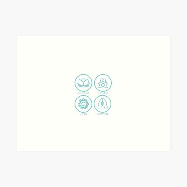 Yoga inspired icons - combination Art Print