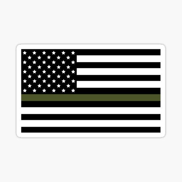 Green Lives Matter (Military Flag) Sticker