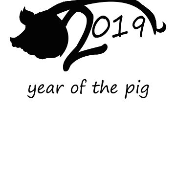 Year Of The Pig Chinese New Year 2019 by Natalia-Art