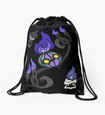 Flames of the Forgotten - Chandelure, Lampent and Litwick Drawstring Bag