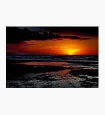 """Sunrise Surfer"" Photographic Print"