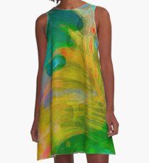 Abstract Palm Art A-Line Dress