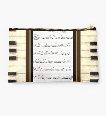Piano keys with sheet music by Kristie Hubler Studio Pouch