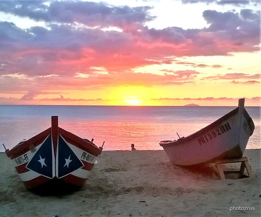 Crashboat Beach Aguadilla Puerto Rico Sunset by photozrus
