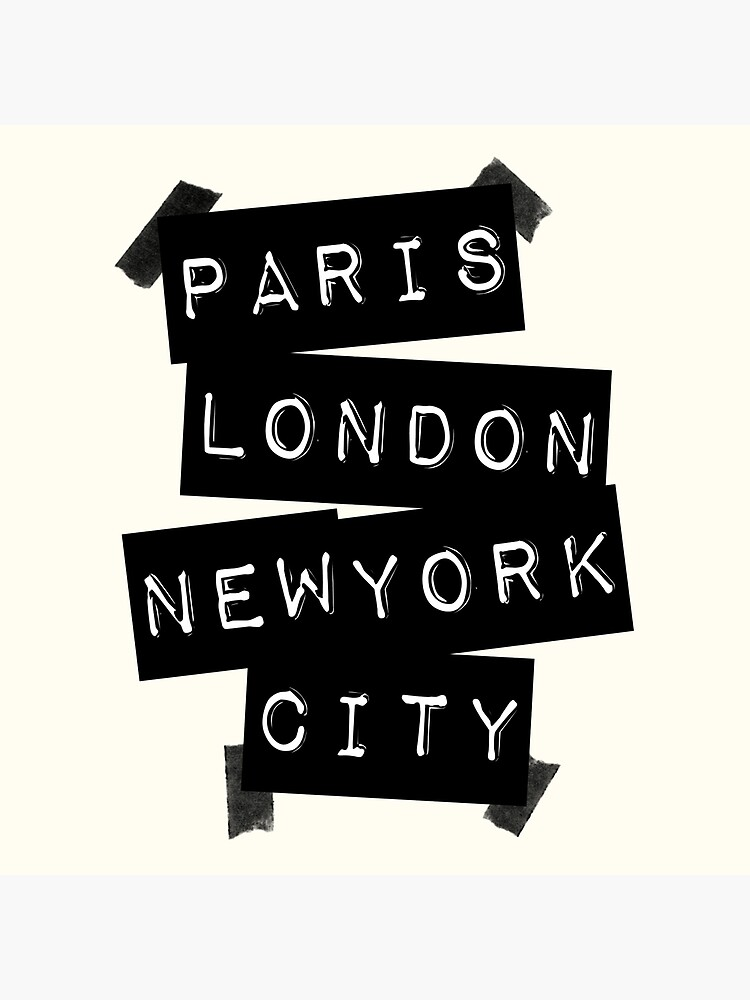 Paris. London. New York City. by TheLoveShop