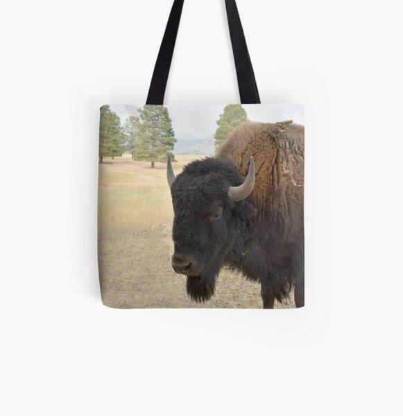Bison All Over Print Tote Bag