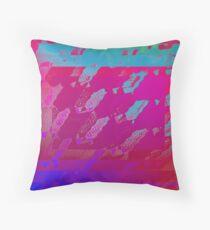 Fuchsia Abstract Throw Pillow