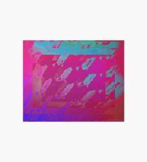 Fuchsia Abstract Art Board
