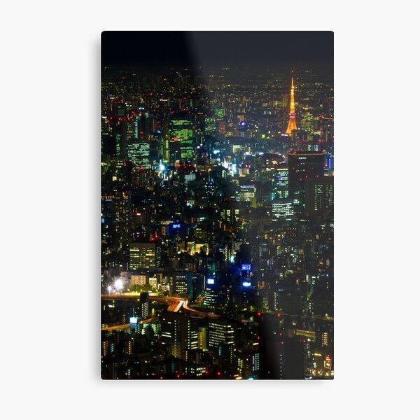 Tokyo Tower from Tokyo Skytree Metal Print