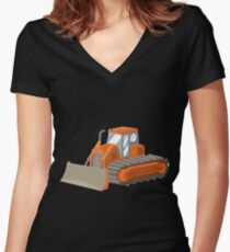 Bulldozer Women's Fitted V-Neck T-Shirt