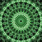 Detailed glowing green mandala by JBlaminsky