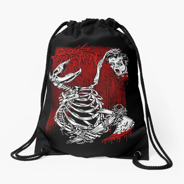 Cattle Decapitation Frankenstein Head Drawstring Bag
