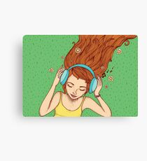 Summer, music and relax Canvas Print