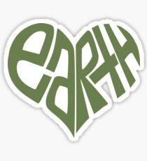 Pegatina Yo corazon la tierra