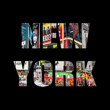 New York (3D colour photo type on black) by RayW