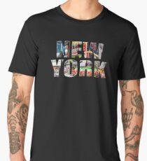 New York (colour photo type on black) Men's Premium T-Shirt