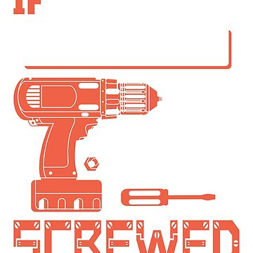 If Clifford Can't Fix it We're All Screwed Stencil Orange by grouppixel