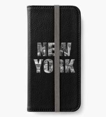 New York (3D black & white photo type on black) iPhone Wallet/Case/Skin