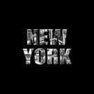 New York (3D black & white photo type on black) by Ray Warren