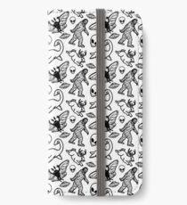Cryptid Pattern Lines Black iPhone Wallet/Case/Skin