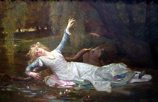 Ophelia Alexandre Cabanel, paintings for sale, classical, Millais, Waterhouse, Bouguereau, Cogniet, french, Academic Classicism, Academicism, Neoclassicism, Romanticism, Hamlet, Shakespeare by Art Gallery