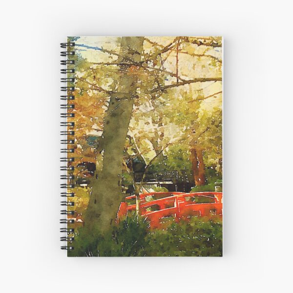 In a Japanese Garden Spiral Notebook