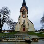 Swedish Cathedral on Small Hill by Helen Purdy