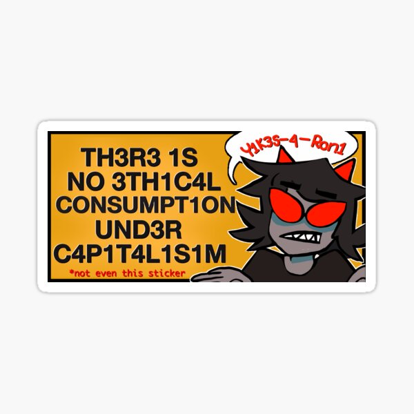 yikes-a-roni capitalisim Sticker