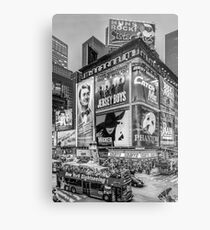 Times Square III (special finale edition - black & white) Metal Print