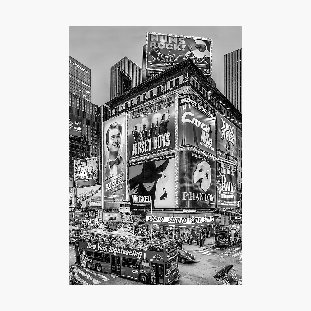 Times Square III (special finale edition - black & white) Photographic Print