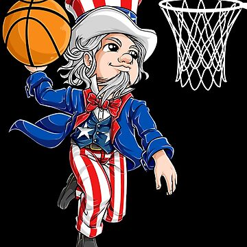 Basketball American Flag T shirt 4th of July Boys Uncle Sam by LiqueGifts