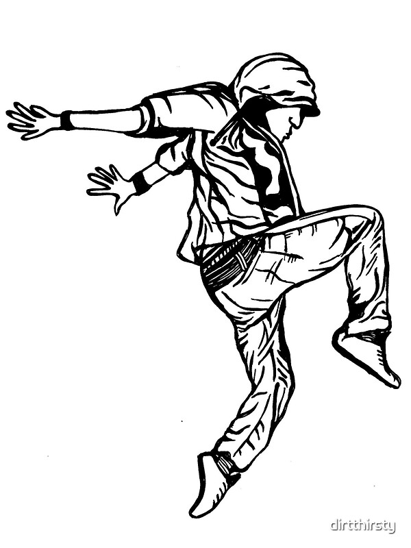"""""""hip hop dancer"""" Stickers by dirtthirsty 