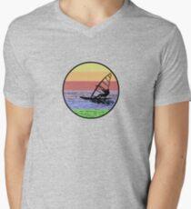 Windsurfing Mens V-Neck T-Shirt