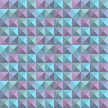Abstract Geometric Pattern - Blue and Plum by Chunga