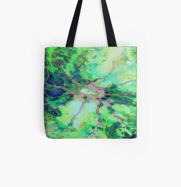 Fraktale Leonore Allover-Print Tote Bag