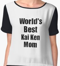 Kai Ken Mom Dog Lover World's Best Funny Gift Idea For My Pet Owner Chiffon Top