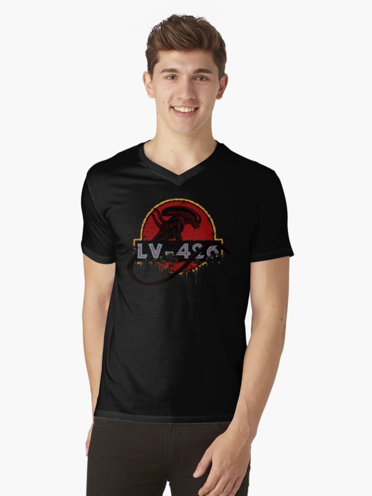 LV-426 Mens V-Neck T-Shirt Front