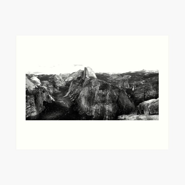 In the Footsteps of the Master - Yosemite in Panorama Art Print