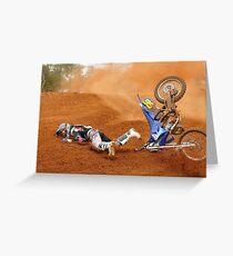 Moto x rider eating dirt Grußkarte